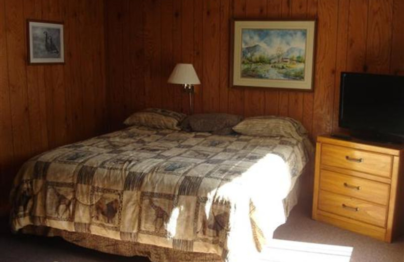 King Bed at Robin's Resort.