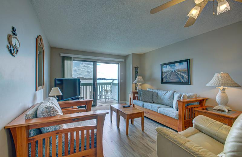 Rental living room at Anna Maria Island Beach Rentals, Inc.