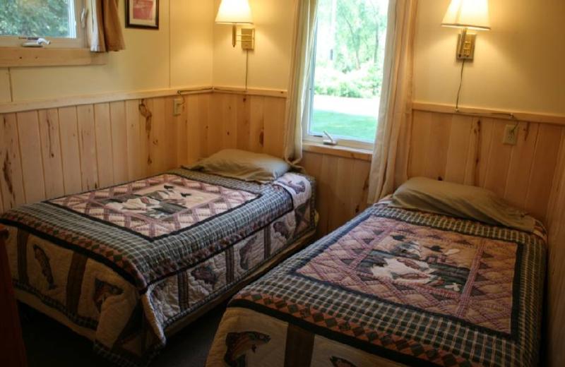 Cabin bedroom at Big McDonald Resort.