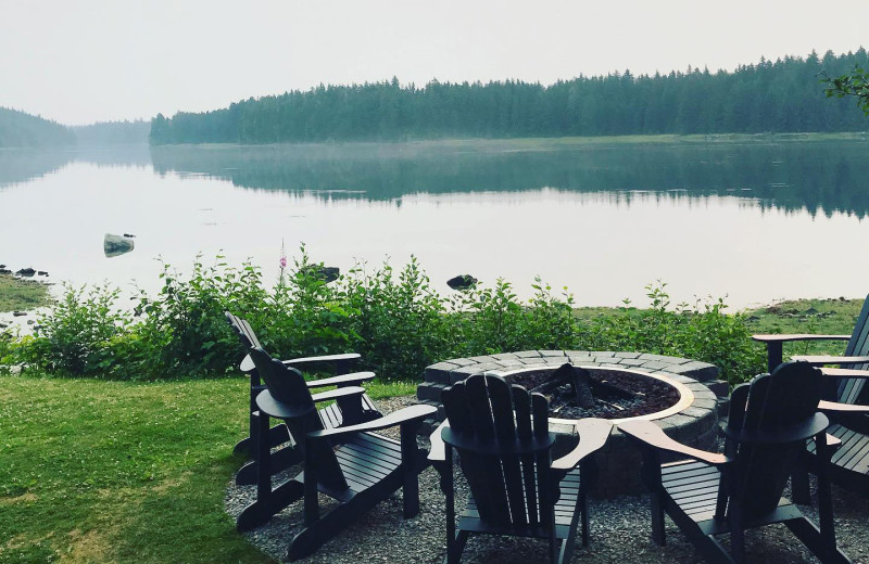 Fire pit at Favorite Bay Lodge.