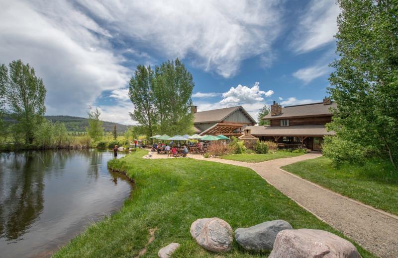Patio at Vista Verde Ranch.