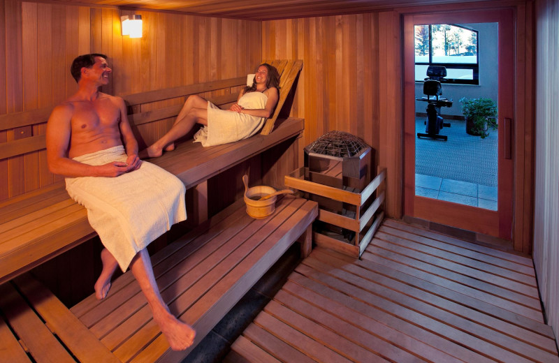 Sauna at Edelweiss Lodge and Spa.