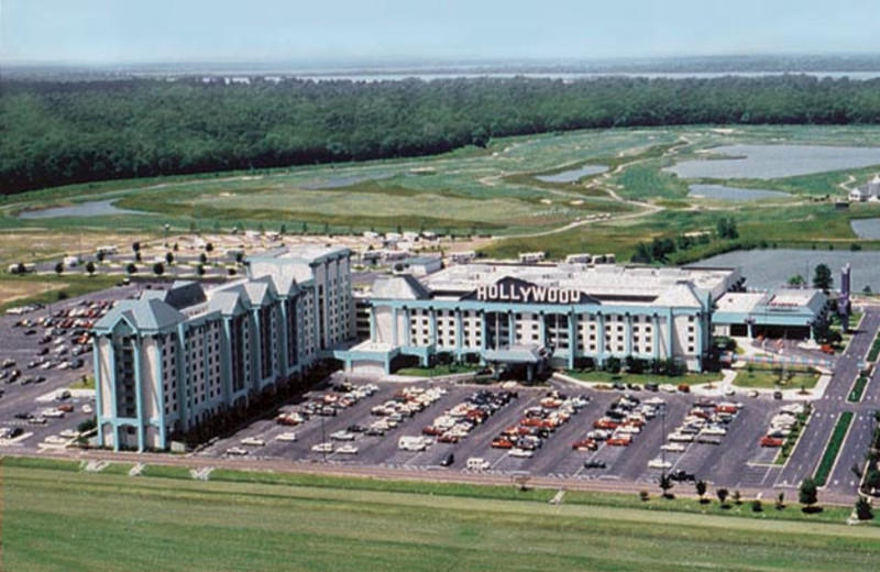 Aerial view of Hollywood Casino Tunica.