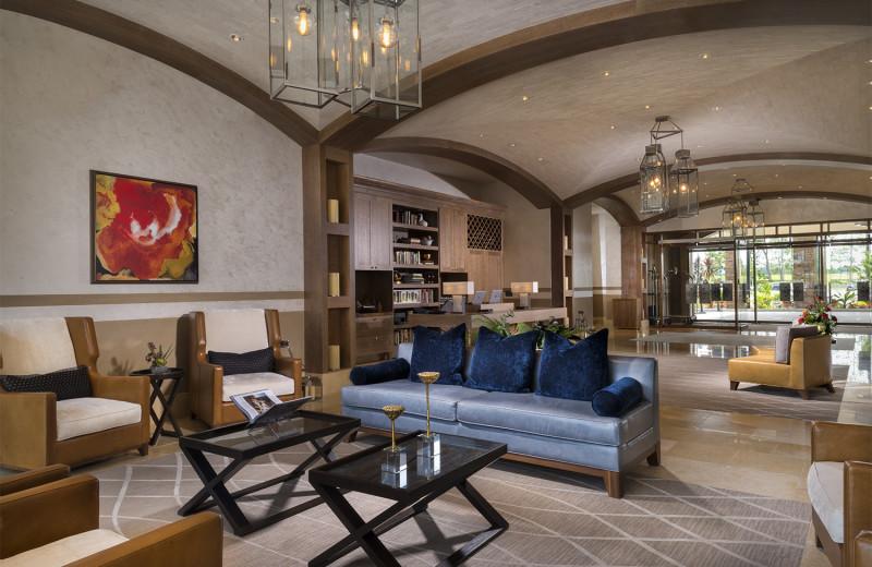 Lobby at Del Lago Resort & Casino.