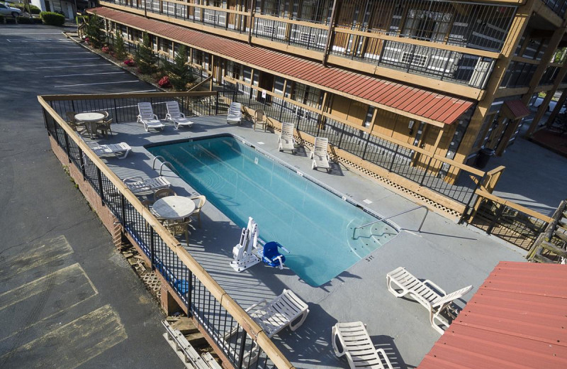 Outdoor pool at Timbers Lodge.