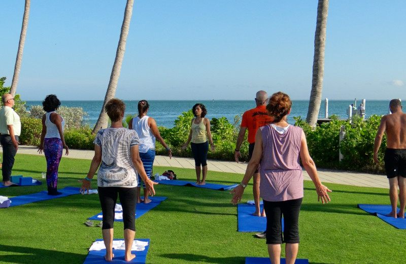 Fitness class at South Seas Island Resort.
