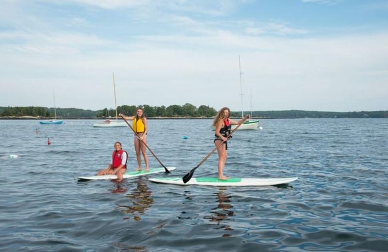 Paddle board at Linekin Bay Resort.