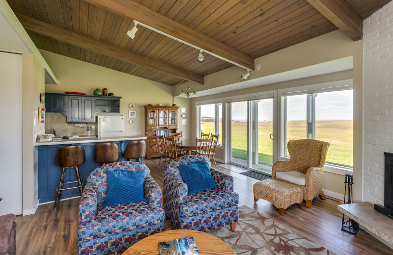 Rental living room at Gearhart by the Sea.