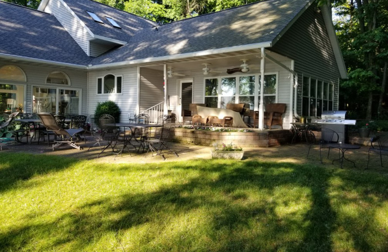 Rental patio at Door County Vacancies.