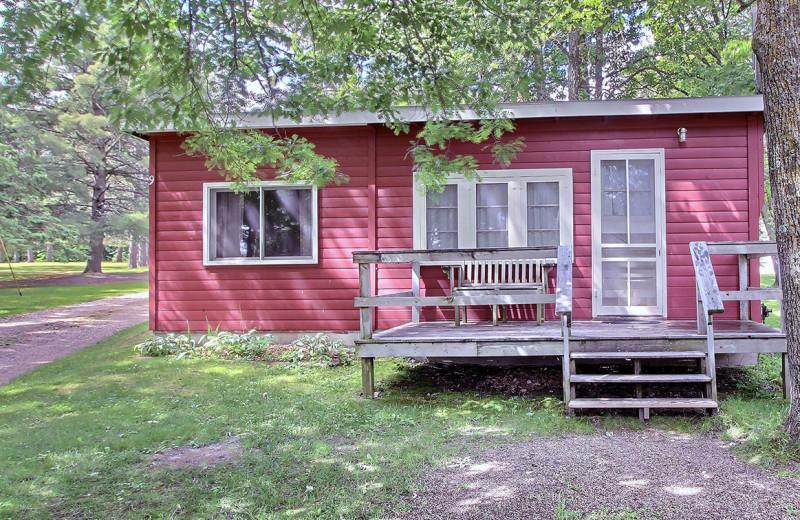 Cabin exterior at Tamarac Bay Resort.