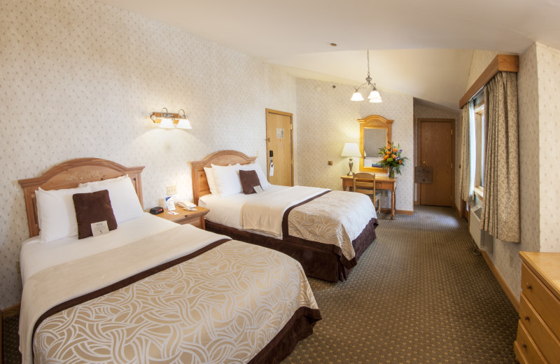 Deluxe village side accommodations come with either two queen sized beds or one king size bed,