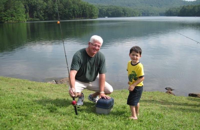 Fishing at Mountain Vista Rentals.