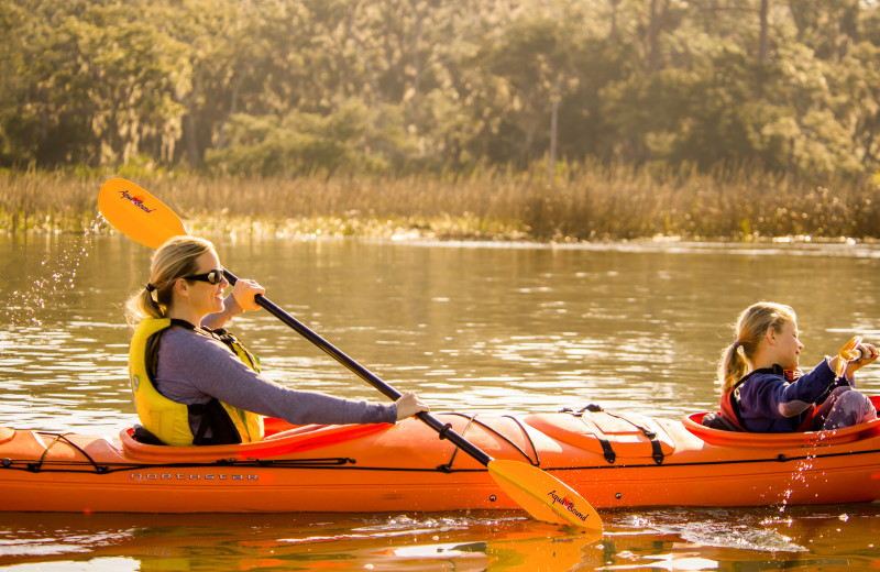 Kayaking at the Lodge on Little St. Simons Island.