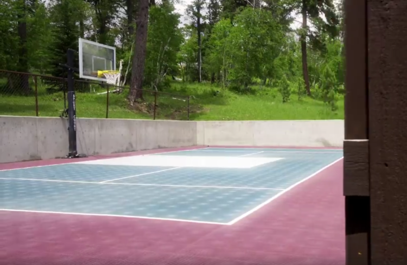 Tennis court at Barefoot Resort.