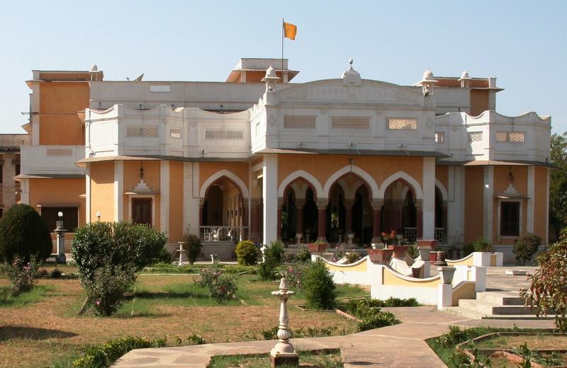 Exterior view of Bhanwar Vilas Palace.