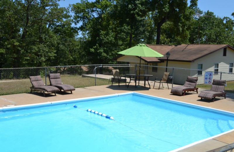 Outdoor pool at Oak Ridge Resort.