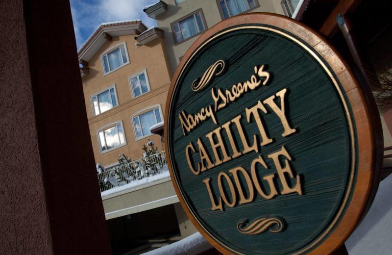 Cahilty Lodge sign.