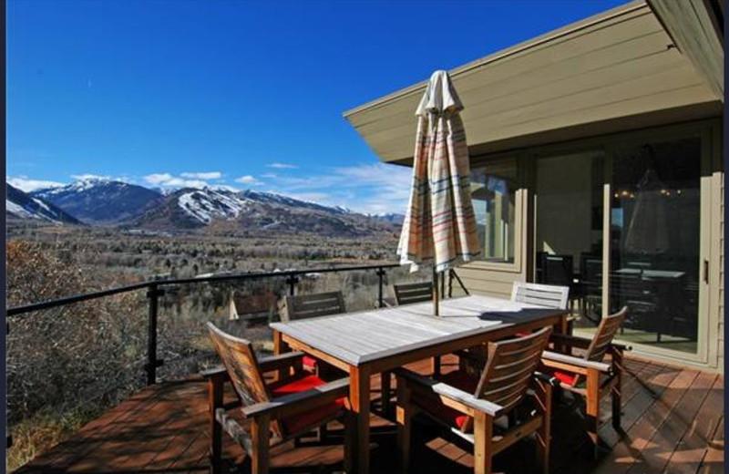 Rental patio at Frias Properties of Aspen - Red Mountain Retreat.