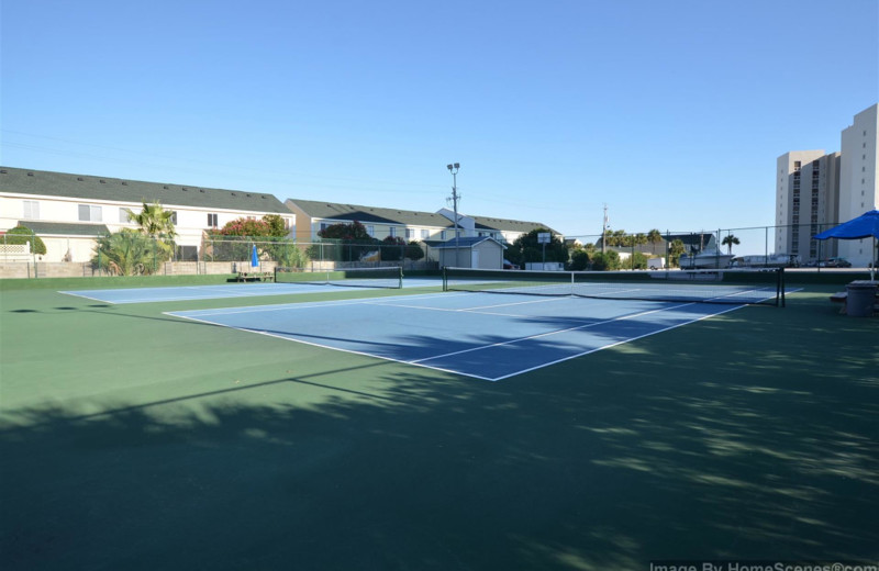 Tennis court at Shoreline Towers.