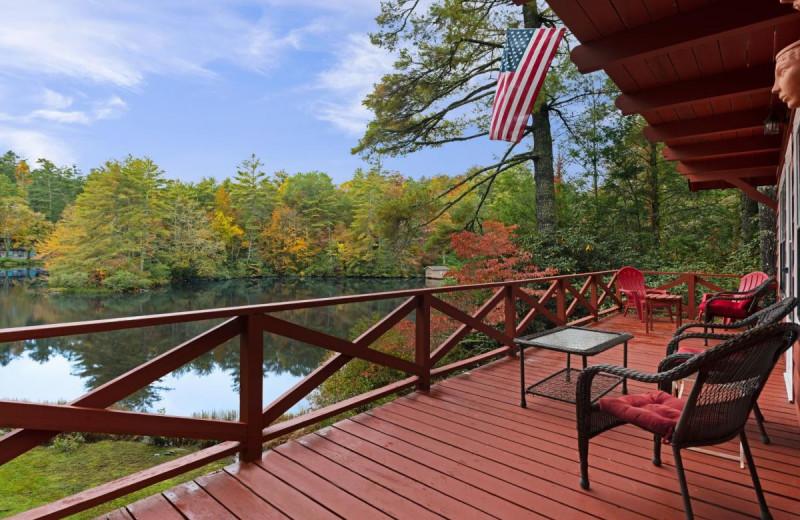 Rental deck at Chambers Realty & Vacation Rentals.