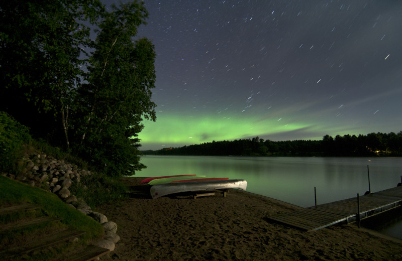 Northern Lights above Boot Lake, MN.