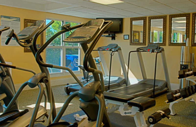 Fitness room at Sheraton Suites Key West.