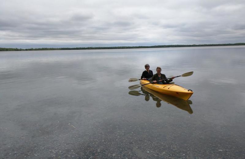 Kayaking at Woodlawn Resort.
