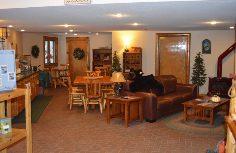 Lobby at Northwoods Lodge.