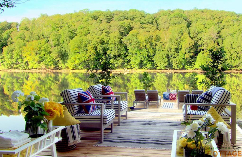Dock at All-Season Cottage Rentals.