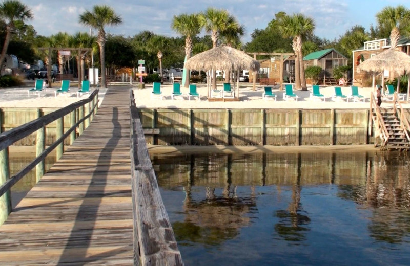 Fishing pier at Navarre Beach Campground.