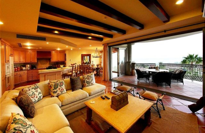 Rental living room at Luxury Villa Collections.