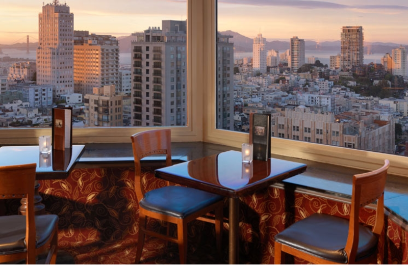 Dining at Mark Hopkins Inter-Continental San Francisco.