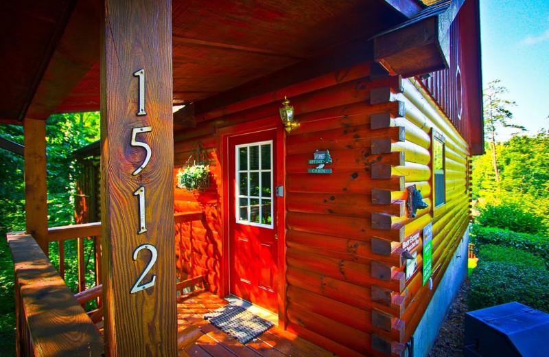 Cabin exterior at Aunt Bug's Cabin Rentals, LLC.