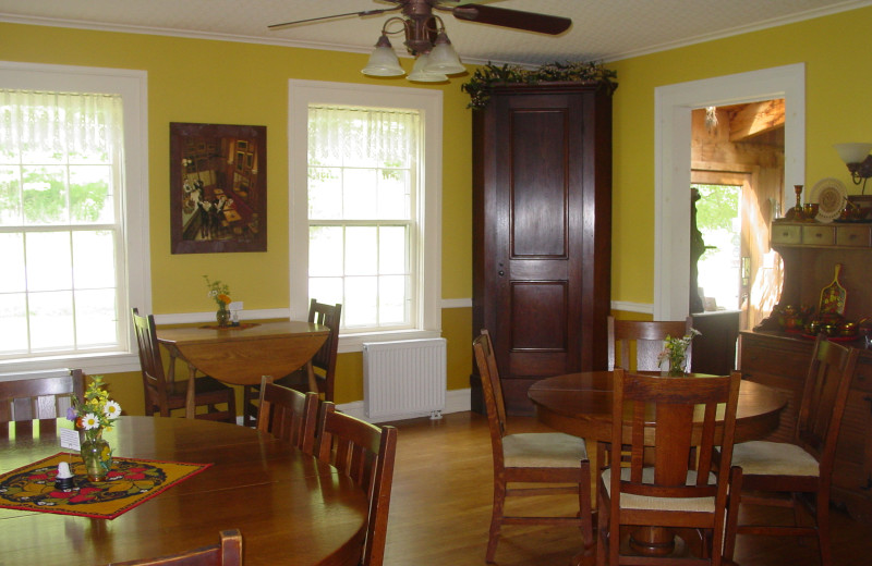 Dining room at Churchill House Inn.