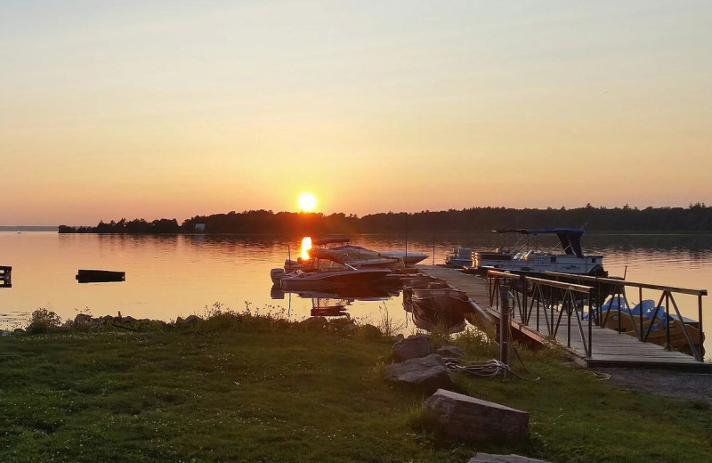 Dock at Riverbay Adventure Inn.