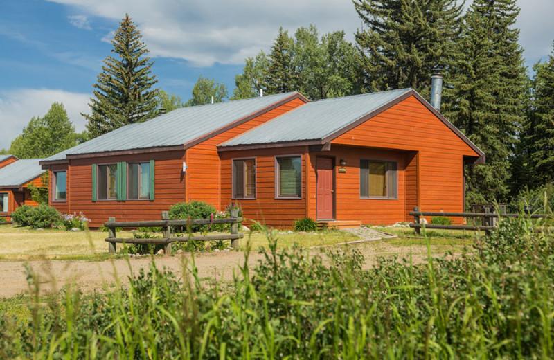 Cabin exterior at The Glen Eden Resort.