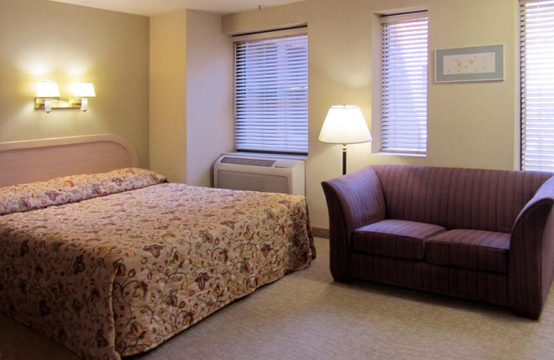 Guest room at Kawada Hotel.