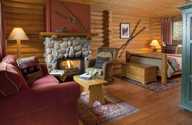 Guest room at Cathedral Mountain Lodge & Chalets.