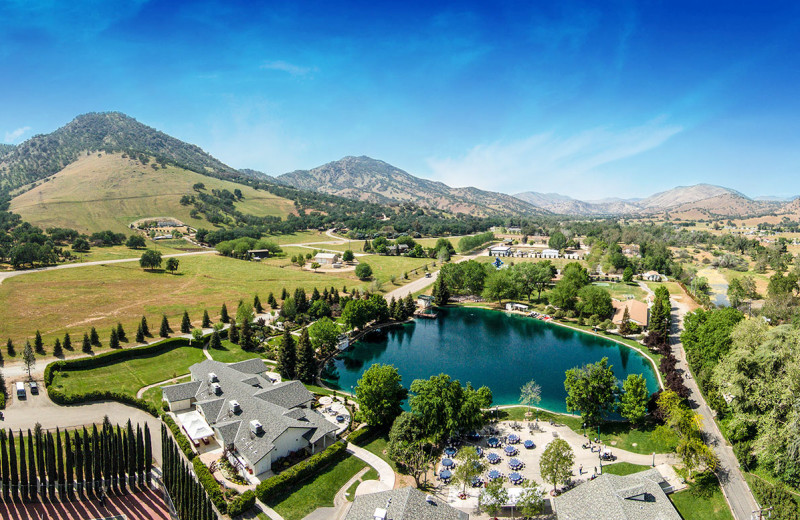 Aerial view of Wonder Valley Ranch Resort.