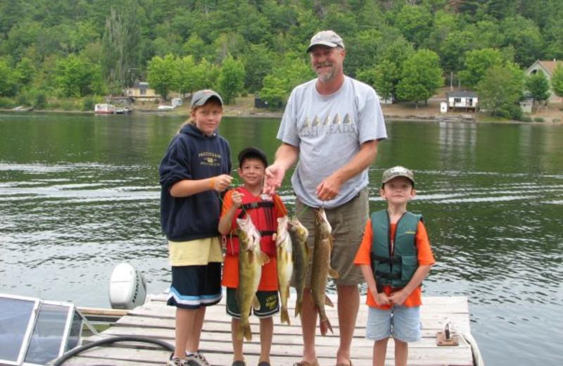 Fishing at Lac La Belle Lodge.