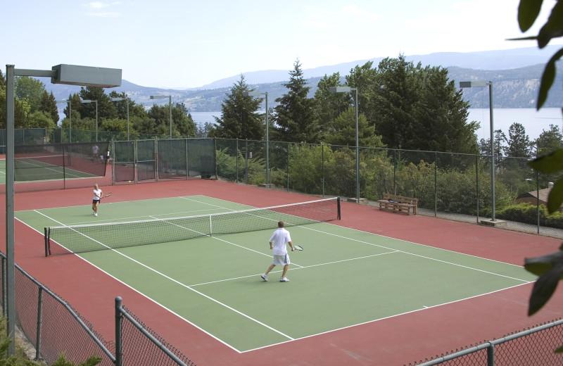 Play a round of tennis at Lake Okanagan Resort