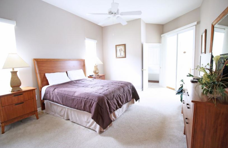 Rental bedroom at Favorite Vacation Homes.