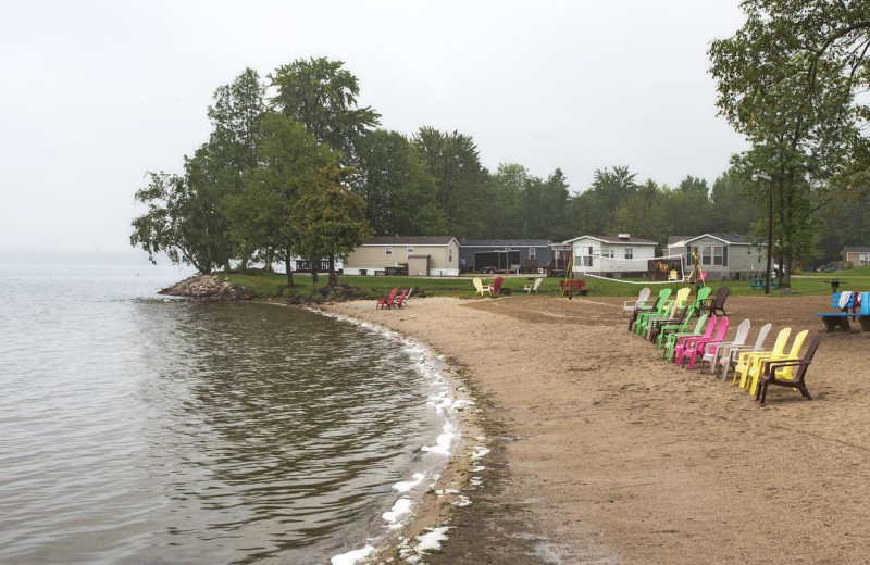 Beach at Great Blue Resorts- McCreary's Beach Resort.