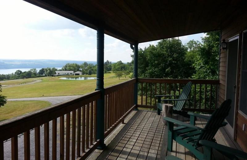 Porch view at Seneca Springs Resort.