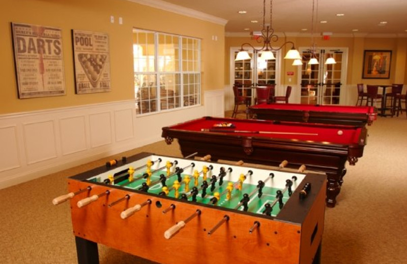 Game room at Vista Cay Resort.