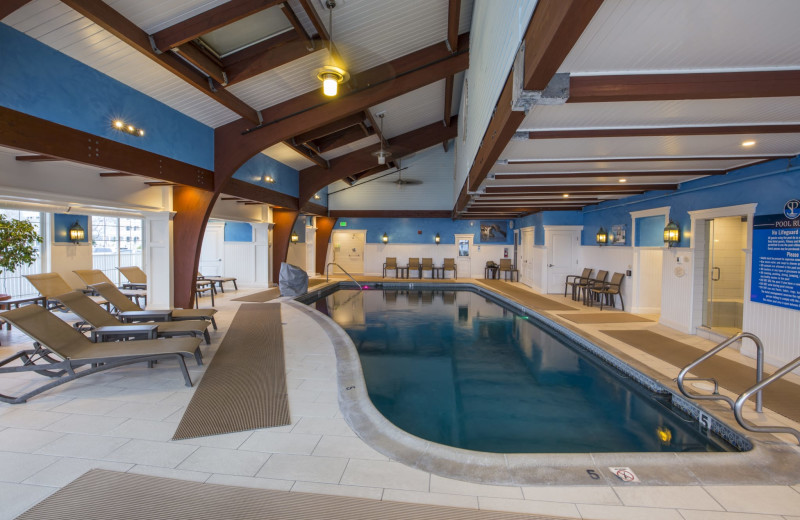 Indoor pool at Saybrook Point Inn, Marina & Spa.