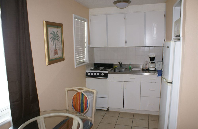 Kitchen at Daytona Shores Inn and Suites.