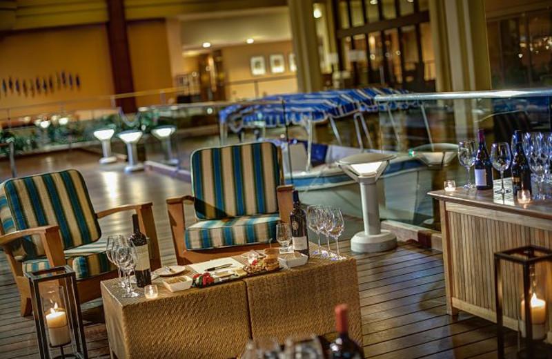 Wine Tasting Boat Dock at Marriott Desert Springs Resort