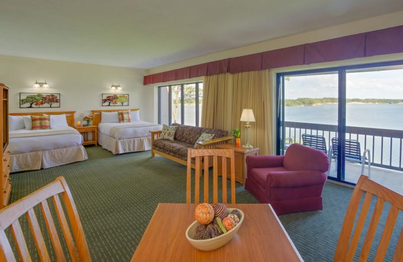 Guest room at Deer Creek Lodge.