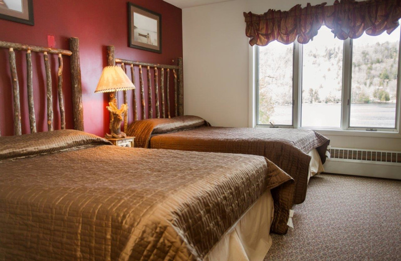 Guest room at Big Moose Inn.